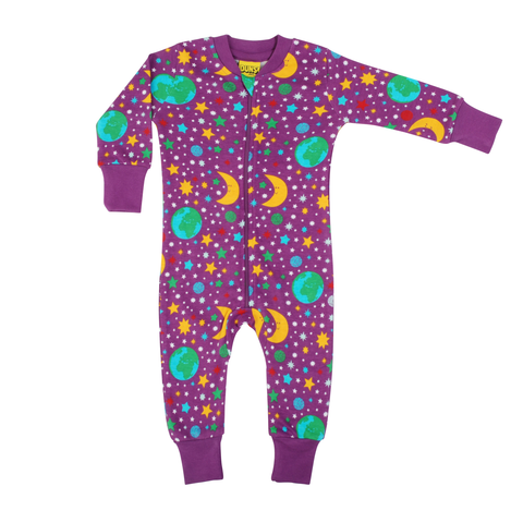 DUNS Sweden Zip Suit Mother Earth Violet,little-tiger-togs.