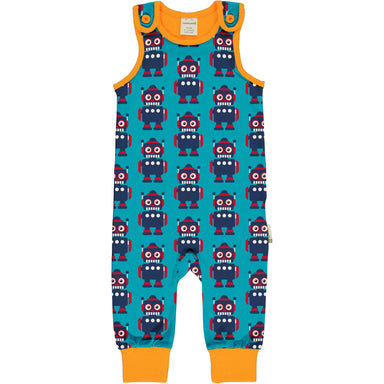 Maxomorra Playsuit Classic Robot,little-tiger-togs.
