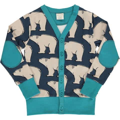 Maxomorra Cardigan V Sweat Polar Bear