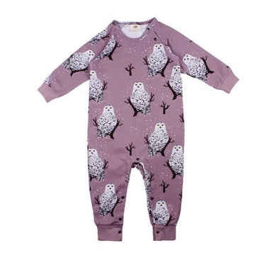 Walkiddy Rompersuit LS Snowy Owls,little-tiger-togs.