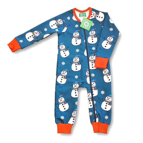 Naperonuttu Jumpsuit Snowman (French Terry),little-tiger-togs.