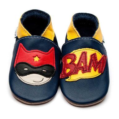 Inch Blue Shoe Super Hero Navy,little-tiger-togs.