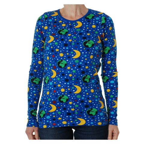 DUNS Sweden Top LS Mother Earth Blue (Adults)