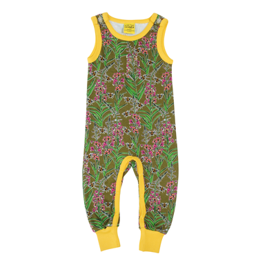 DUNS Sweden Dungarees Willowherb Olive Branch,little-tiger-togs.