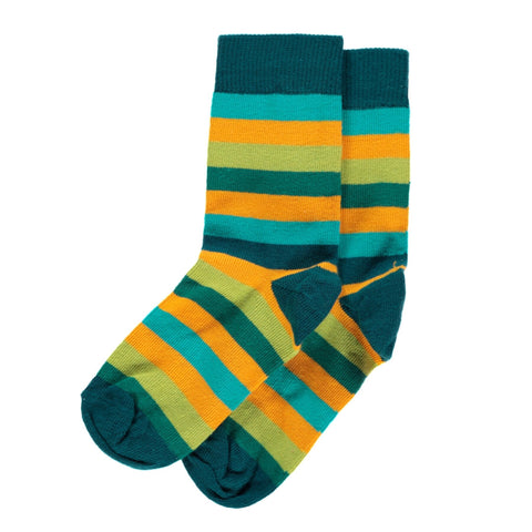Maxomorra Socks Petrol Mix - little-tiger-togs