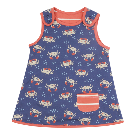 Piccalilly Reversible Dress Ocean Crab