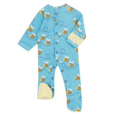 Piccalilly Footed Sleepsuit Bumblebee,little-tiger-togs.