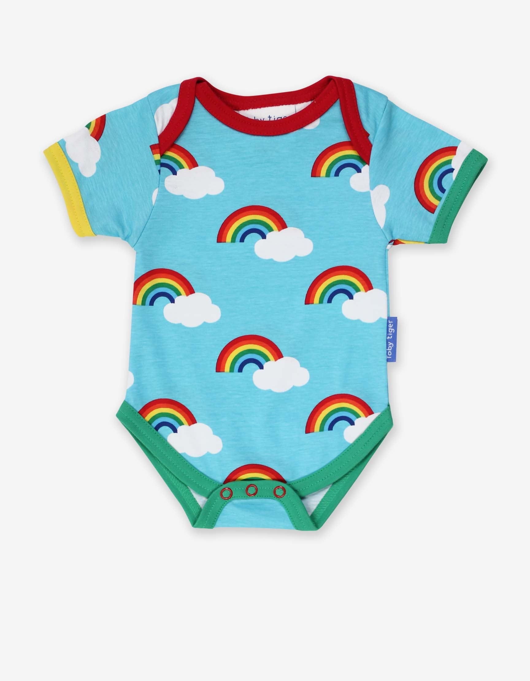 Toby Tiger Body SS Turquoise Rainbow