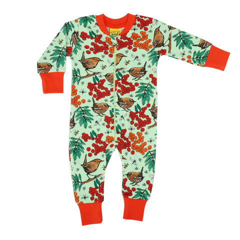 DUNS Sweden Zip Suit Rowanberry Green,little-tiger-togs.