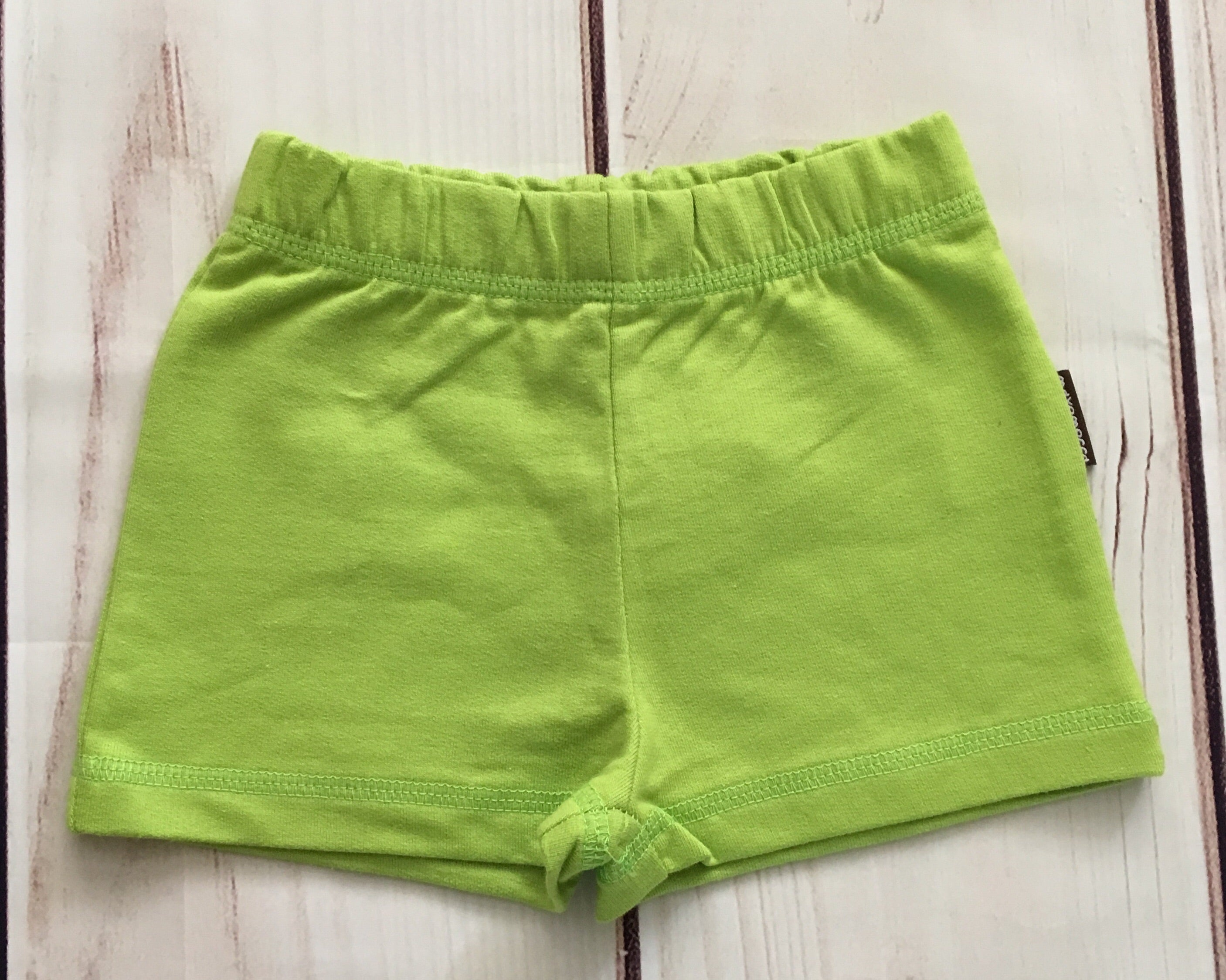 Maxomorra Shorts Green - little-tiger-togs