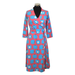 Moromini Wrap Dress Blue Apple (Adult),little-tiger-togs.
