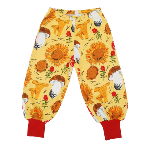 DUNS Sweden Baggy Pants Sunflowers & Mushrooms Sunshine Yellow
