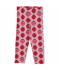 Maxomorra Leggings Cropped Strawberry - little-tiger-togs