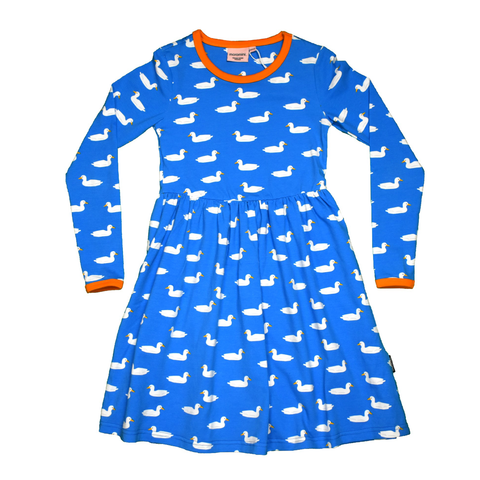 Moromini Twirly Dress LS Duck Pond Blue