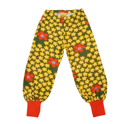 DUNS Sweden Baggy Pants Flower Olive