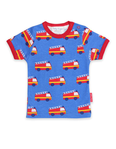 Toby Tiger T-Shirt Fire Engine