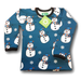 Naperonuttu Shirt LS Snowman (French Terry),little-tiger-togs.