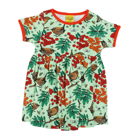 DUNS Sweden Dress Twirly SS Rowanberry Green,little-tiger-togs.