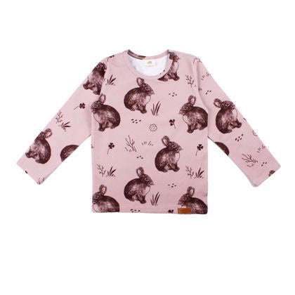 Walkiddy Shirt LS Cute Rabbits,little-tiger-togs.