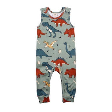 Walkiddy Dungarees Funny Dinosaur,little-tiger-togs.