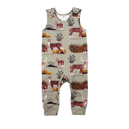 Walkiddy Dungarees Deer Family