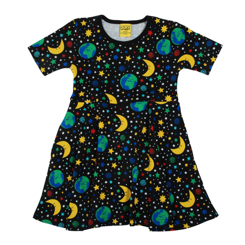 DUNS Sweden Dress Skater SS Mother Earth Black
