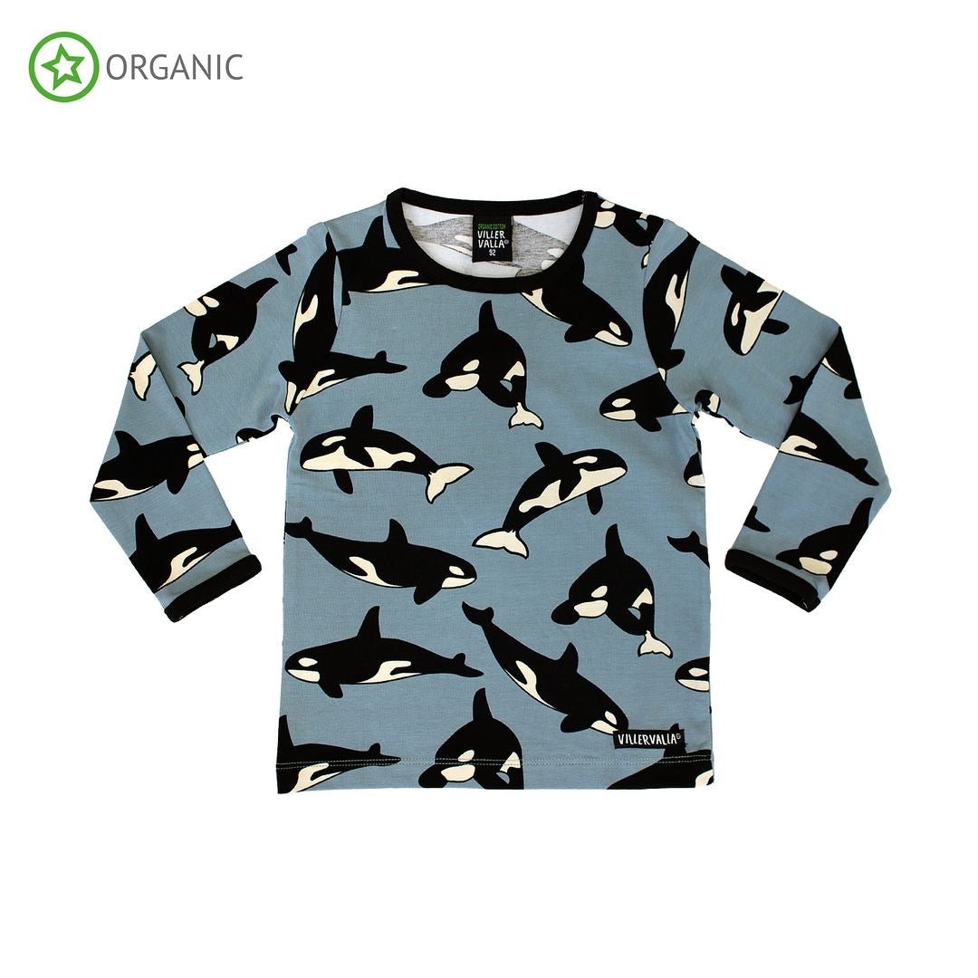 Villervalla T-Shirt LS Whale,little-tiger-togs.