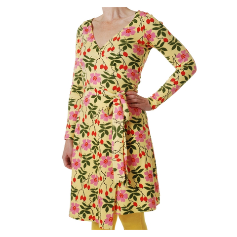 DUNS Sweden Dress Wrap LS Flower Rosehip (Adult)