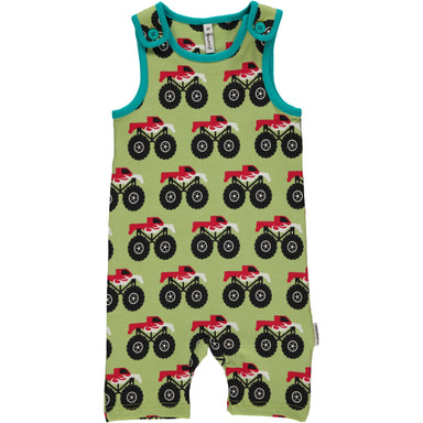 Maxomorra Playsuit Short Monster Truck (2017) - little-tiger-togs