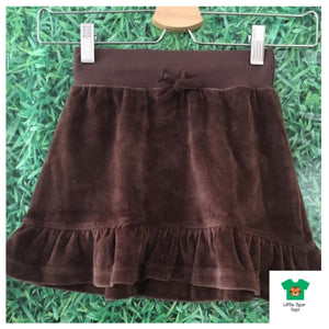 Maxomorra Skirt Velour Brown - little-tiger-togs