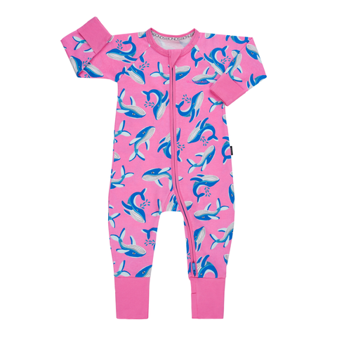 Bonds Wondersuit Whale Tales Pink,little-tiger-togs.