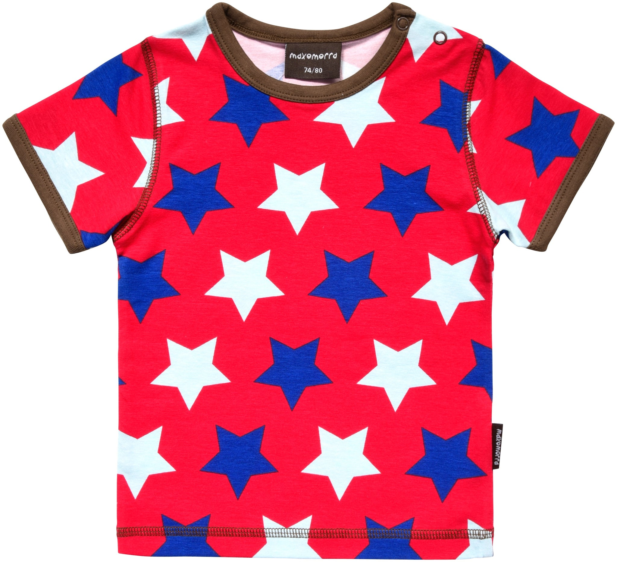 Maxomorra Top SS Red Star (50/56) - little-tiger-togs