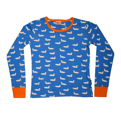 Moromini T-Shirt LS Duck Pond Blue