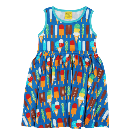 DUNS Sweden Dress Twirly Ice Cream Blue,little-tiger-togs.