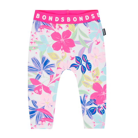 Bonds Stretchies Leggings Beach Club Floral