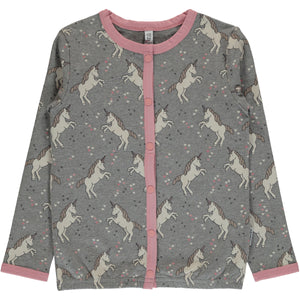 Maxomorra Cardigan Button Sweat Unicorn Dreams (86/92) - little-tiger-togs
