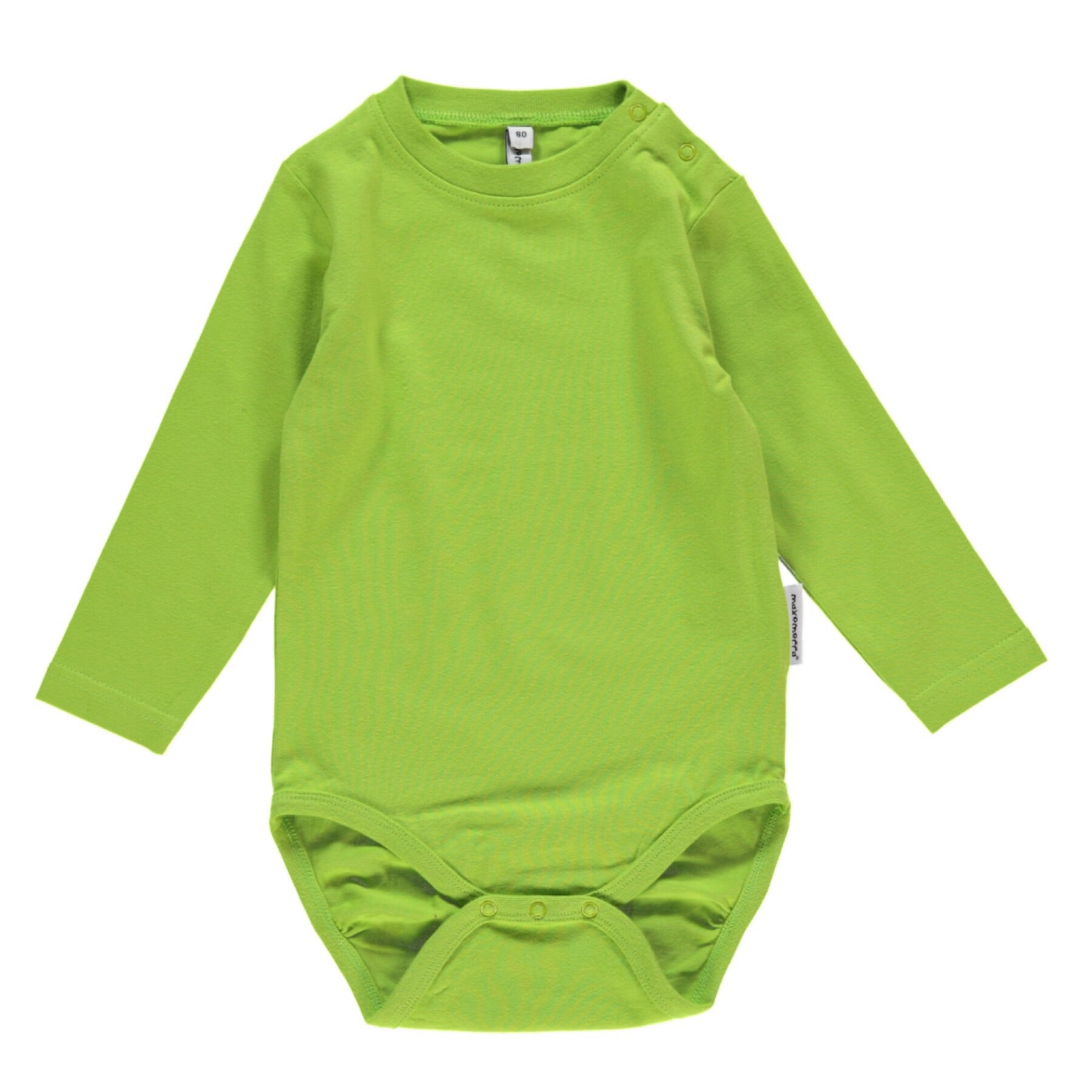 Maxomorra Body LS Bright Green (56) - little-tiger-togs