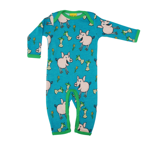 DUNS Sweden Lap Neck Suit Pig Teal,little-tiger-togs.
