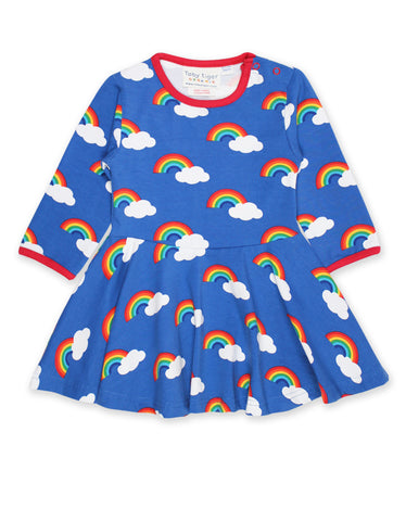 Toby Tiger Skater Dress Multi Rainbow,little-tiger-togs.