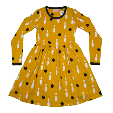 Moromini Twirly Dress LS Bowling 4-ever