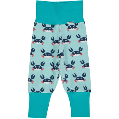 Maxomorra Pants Rib Crab - little-tiger-togs