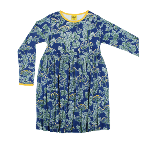 DUNS Sweden Dress Twirly LS Dill Ultra Marine
