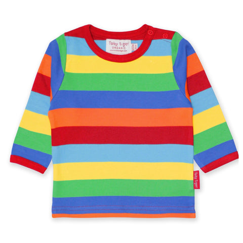 Toby Tiger T-Shirt LS Multi Stripe - little-tiger-togs