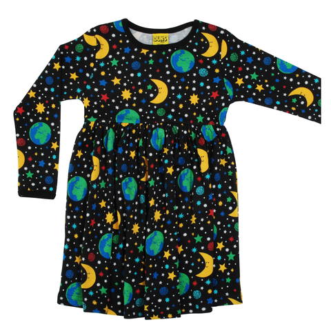 DUNS Sweden Dress Twirly LS Mother Earth Black,little-tiger-togs.