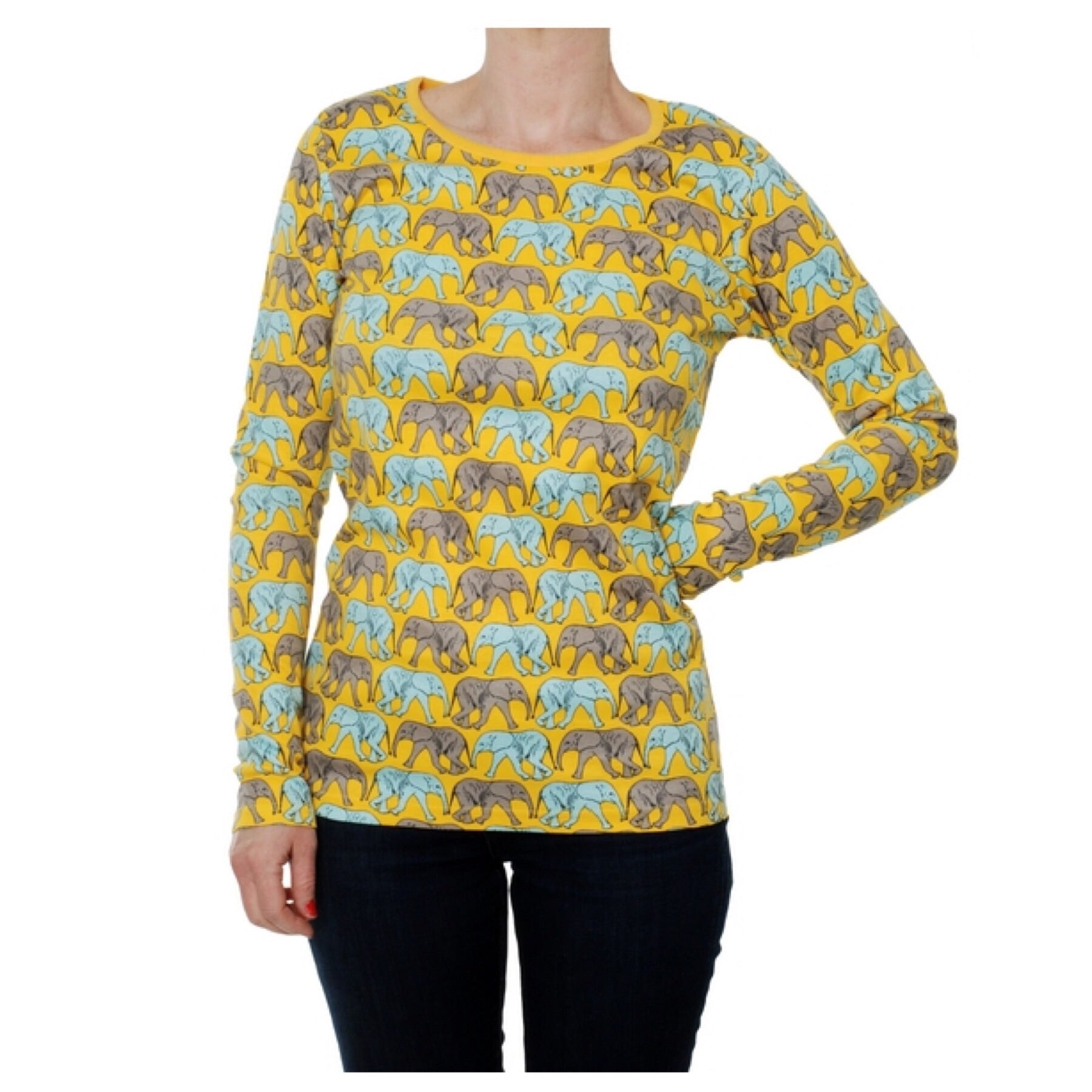 DUNS Sweden Top LS Elephant Walk Yellow (Adults) - little-tiger-togs