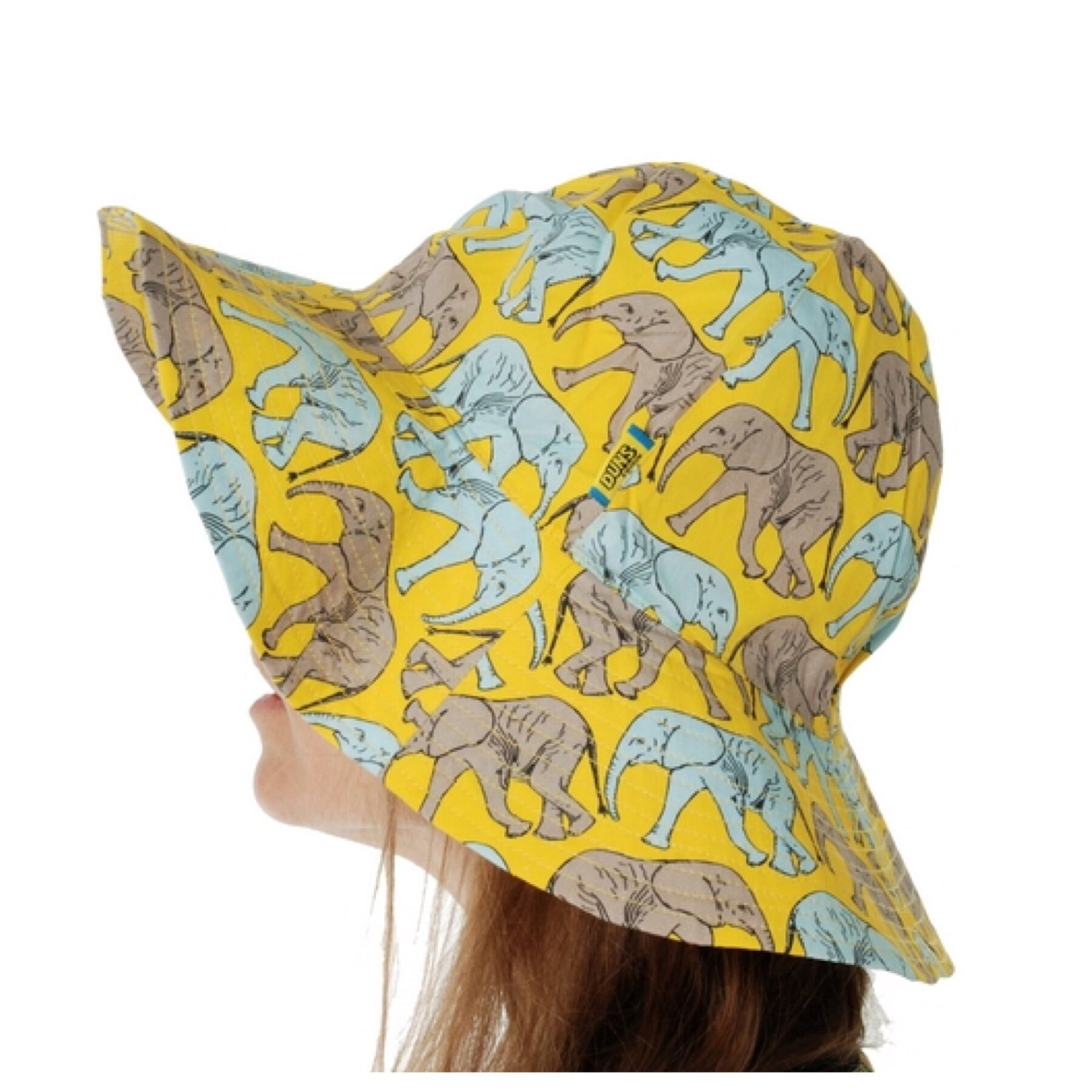 DUNS Sweden Sun Hat Elephant Walk Yellow - little-tiger-togs
