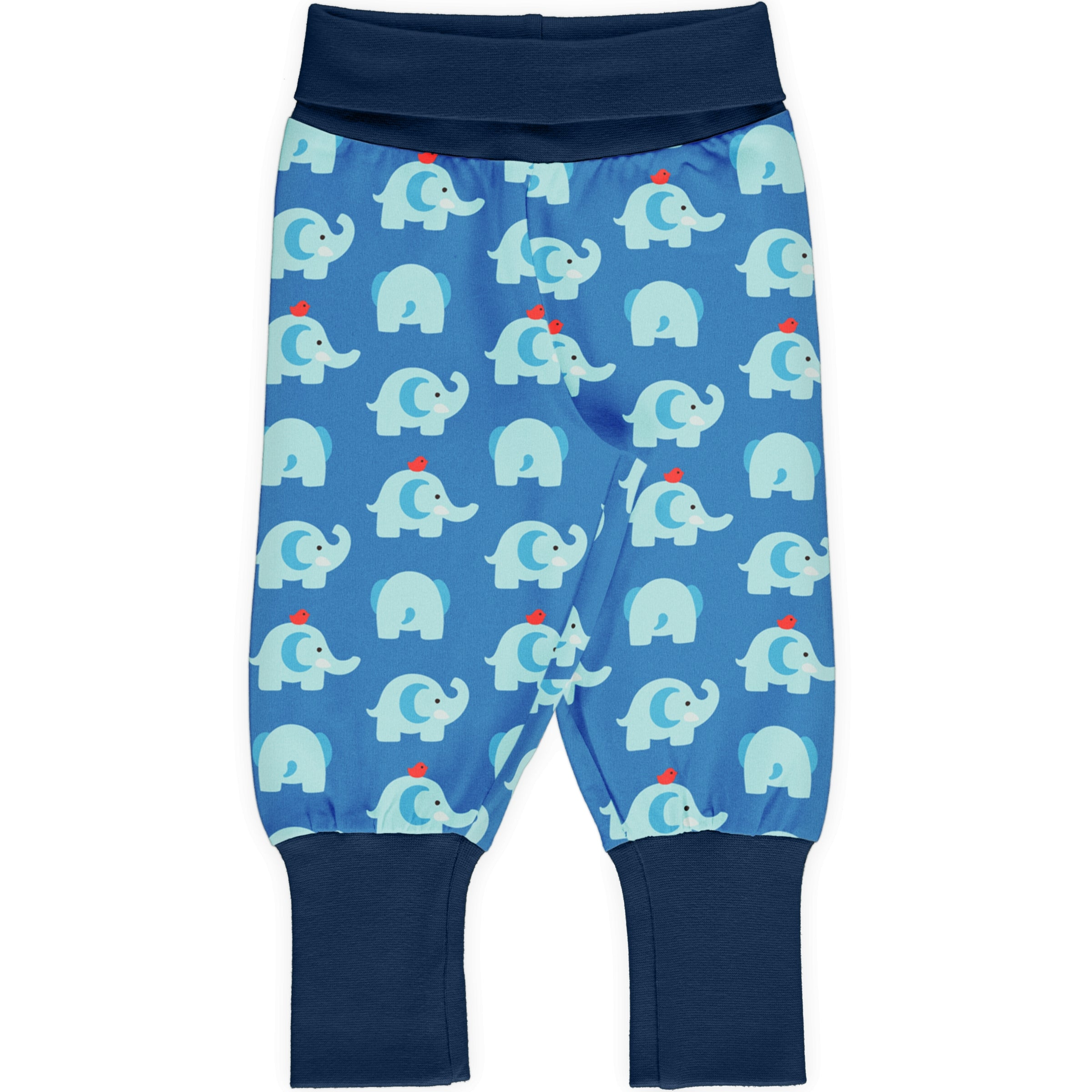 Maxomorra Pants Rib Elephant Friends,little-tiger-togs.