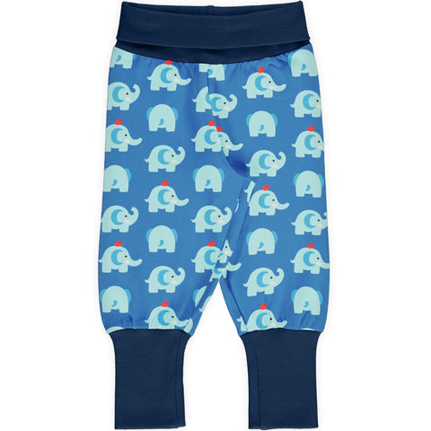 Maxomorra Pants Rib Elephant Friends