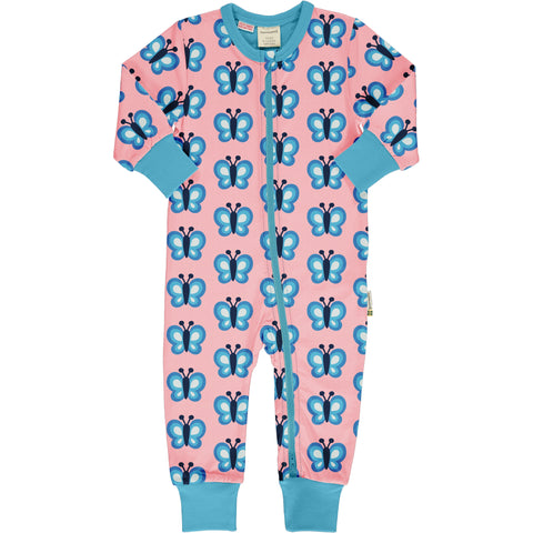 Maxomorra Rompersuit LS Bluewing Butterfly