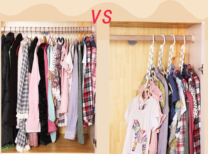 ... Magic Space Saving Clothes Hanger   Multiply Your Closet Space U0026 Hang  More Clothes Easily ...